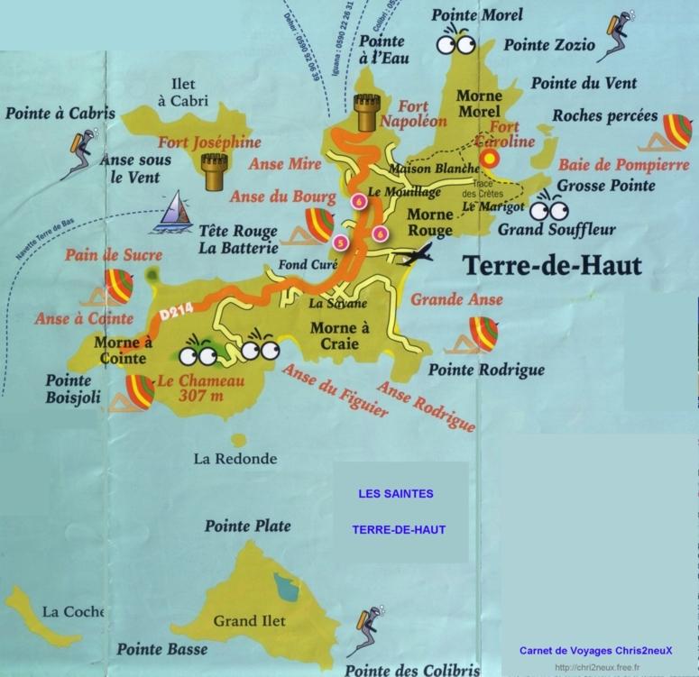 Les îles des Saintes n° 1 en Guadeloupe : Terre de Haut