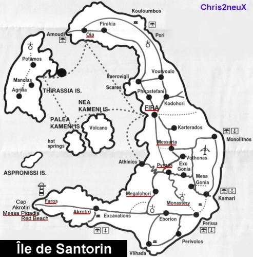 Île de Santorin dans les Cyclades : Grece