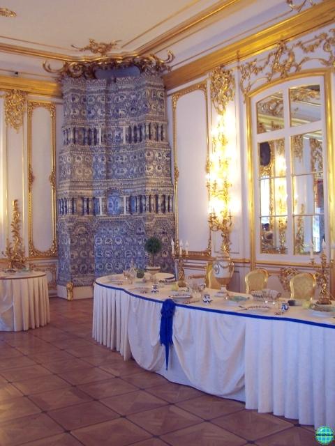 Tsarskoie selo palais catherine ou village imperial ou for Salle manger turque